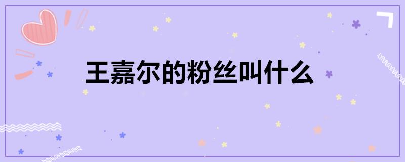 王嘉尔的粉丝叫什么