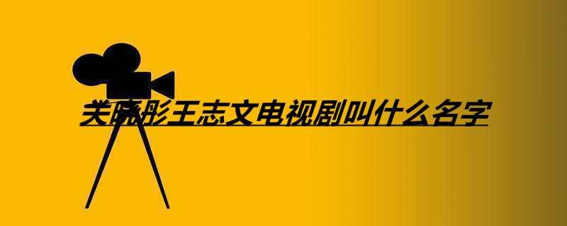 关晓彤王志文电视剧叫什么名字