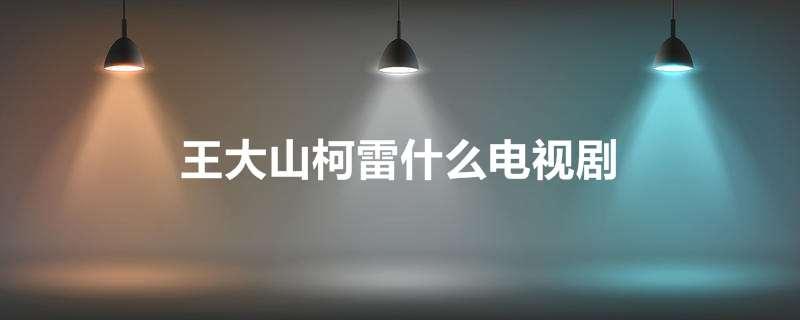 王大山柯雷什么电视剧