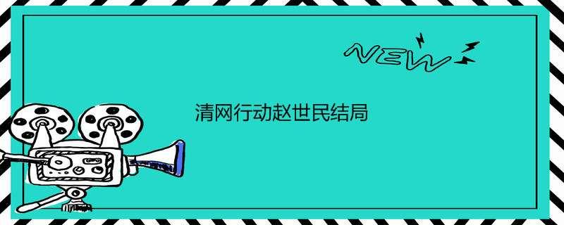 清网行动赵世民结局